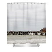 Naples Fishing Pier Shower Curtain
