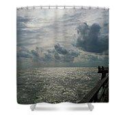 Naples Pier Shower Curtain