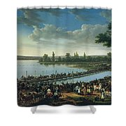 Napoleon Before The Battle Of Wagram, 6th July 1809 Shower Curtain