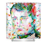 Napoleon Bonaparte - Watercolor Portrait Shower Curtain