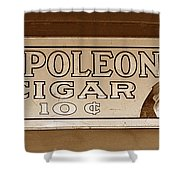 Napoleon Cigars Shower Curtain