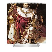 Napoleon I On His Imperial Throne Shower Curtain