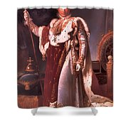 Napoleon In His Coronation Robes  Shower Curtain