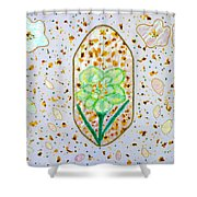 Narcissus Flower Petals Shower Curtain