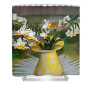 Narcissus In The Vase Shower Curtain