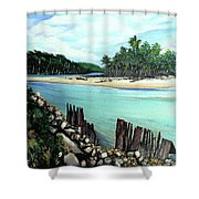 Nariva River And Cocos Bay Shower Curtain