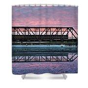 Narooma Bridge Shower Curtain