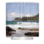 Narrawallee Beach On The South Coast Of New South Wales Australia Shower Curtain