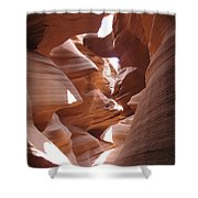 Narrow Canyon I Shower Curtain