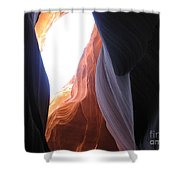 Narrow Canyon V Shower Curtain