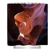 Narrow Canyon Xv Shower Curtain