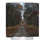 Narrow Path On Recovery Road Shower Curtain