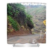 Narrow Road - North Maui Shower Curtain