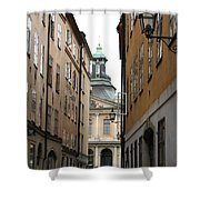 Narrow Road Stockholm Shower Curtain