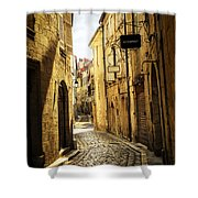 Narrow Street In Perigueux Shower Curtain by Elena Elisseeva