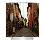 Narrow Street In Provence Shower Curtain