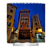 Narrow Streets And Buildings - Rovinj Croatia Shower Curtain