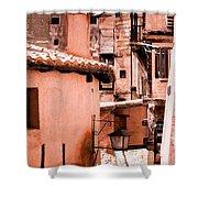 Narrow Streets Of Albarracin  Shower Curtain