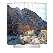 Narrowing Of Trail In Big Painted Canyon Trail In Mecca Hills-ca Shower Curtain