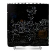 Nasa Vehicle System Vstb Rover On The Dark Side Shower Curtain