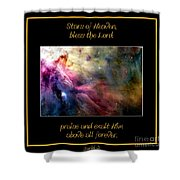 Nasa Ll Ori And The Orion Nebula Stars Of Heaven Bless The Lord Shower Curtain