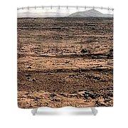 Nasa Mars Panorama From The Mars Rover Shower Curtain