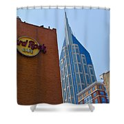 Nashville Downtown Shower Curtain