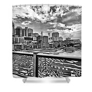 Nashville From The Shelby Bridge Shower Curtain