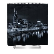Nashville Skyline At Night Shower Curtain