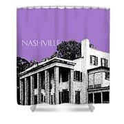 Nashville Skyline Belle Meade Plantation - Violet Shower Curtain