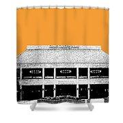 Nashville Skyline Grand Ole Opry - Orange Shower Curtain