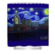 Dedication To Van Gogh Nashville Starry Nights Shower Curtain
