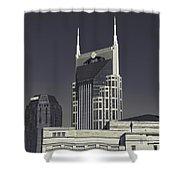 Nashville Tennessee Batman Building Shower Curtain