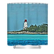 Nassau Bahama Lighthouse Shower Curtain