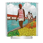 Nassau Woman Shower Curtain