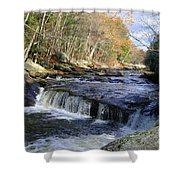 Natchaug River Falls Shower Curtain