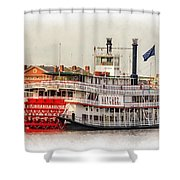Natchez Sternwheeler Paint Shower Curtain
