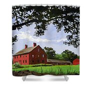 Nathan Hale Homestead Coventry Connecticut Shower Curtain
