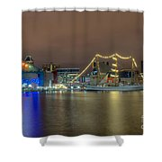 National Aquarium And Ships Shower Curtain