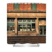 National Bank Of Thurmond Shower Curtain