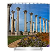 National Capitol Columns Shower Curtain