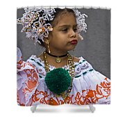 National Costume Of Panama Shower Curtain