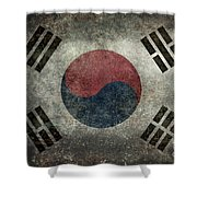 National Flag Of South Korea Desaturated Vintage Version Shower Curtain
