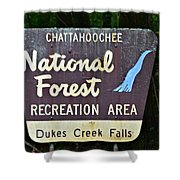 National Forest Recreation Area Shower Curtain