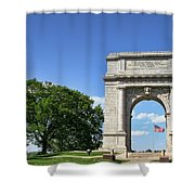 National Memorial Arch At Valley Forge Shower Curtain