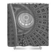 National Statuary Rotunda Bw Shower Curtain