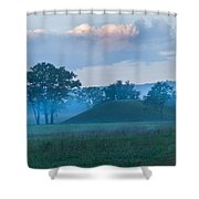 Native American Burial Ground Shower Curtain