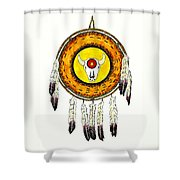 Native American Ceremonial Shield Number 2 Shower Curtain