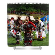 Native American Dancers Shower Curtain