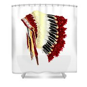 Native American Headdress Shower Curtain